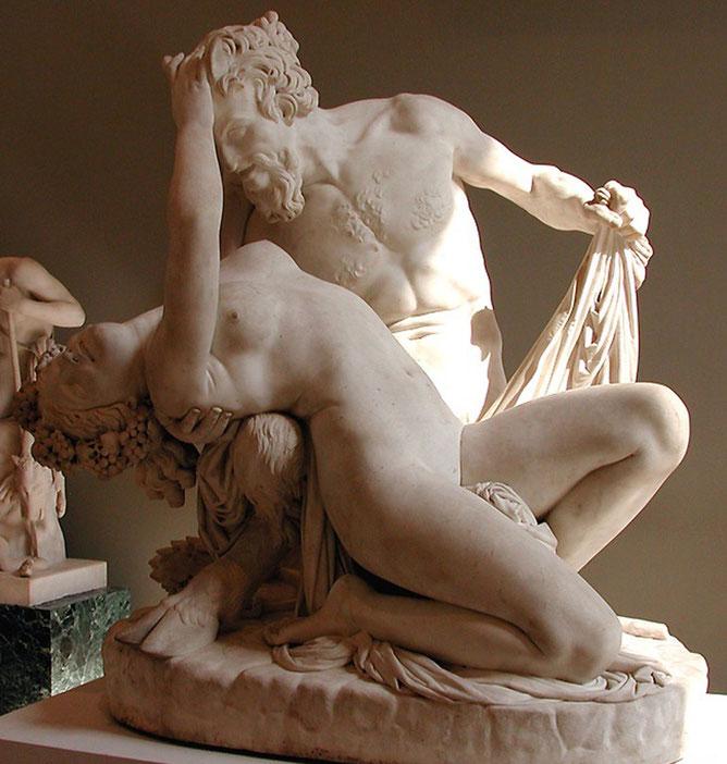 satyre et bacchante James Pradier sculpture marbre nu artistique, nouveausculpteur chefs-d'oeuvre de la sculpture.sculpture argile nus feminins,sculpture femme enceinte,sculpture femme assise,sculpt