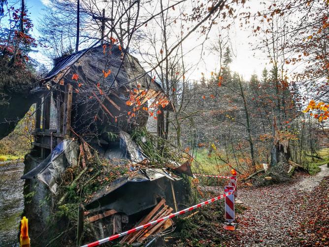 Die Kapelle Klobenstein nach den Sturmschäden