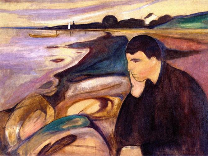 エドヴァンス・ムンク「憂鬱」(1891年)