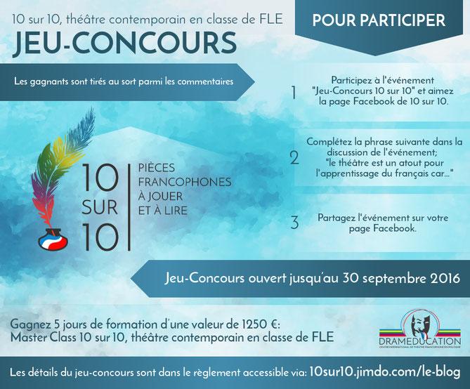 Jeu Concours 10 Sur 10 Site De 10sur10 Pieces Francophones A Jouer Et A Lire