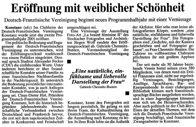 SÜDKURIER, 12.09.2001