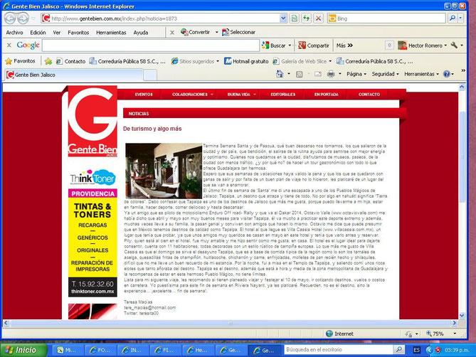 Gente Bien Informador 05/04/13