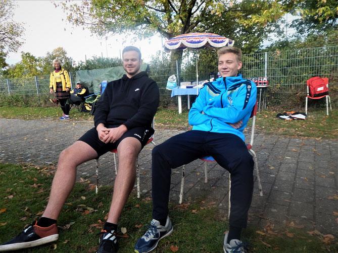 Über die Ruhe kommt die Kraft: Thomas Füßer und Mike Adams von der TSG Haßloch ruhen in sich selbst.