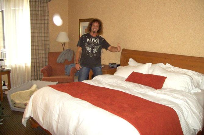 UNSER ZIMMER IM *DELTA BARRINGTON* HOTEL
