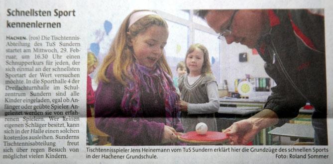 Schnellsten Sport kennenlernen - Sauerlandkurier vom 1.4.12