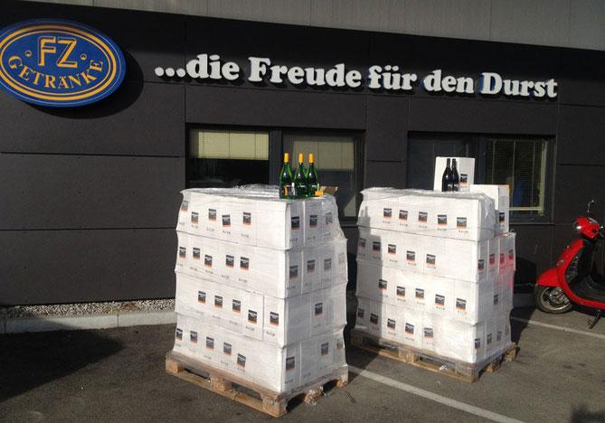 Die 1. Lieferung ist im Allgäu angekommen - Deutscher Qualitätswein ...