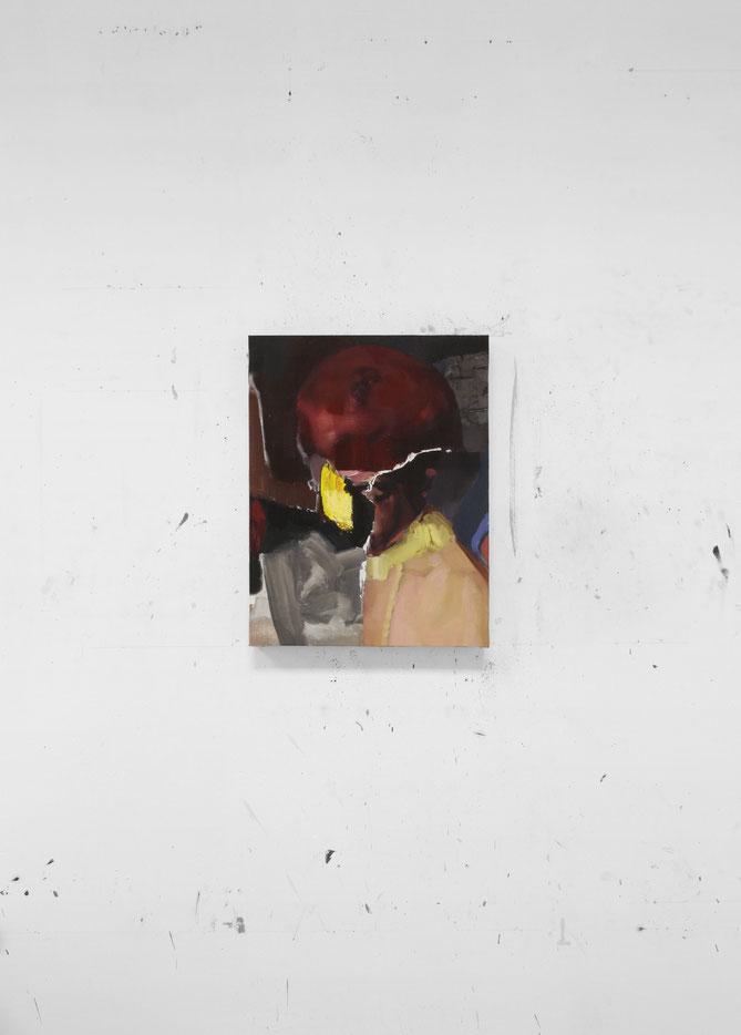 El soñador (reconstrucción de un cuadro). Oil on linen. 50 x 38 cm. 2017