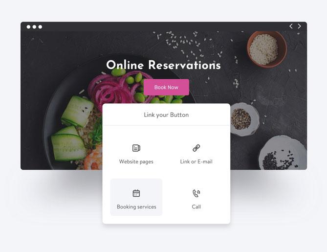 Permite a tus visitantes realizar sus reservas online desde tu página Jimdo.