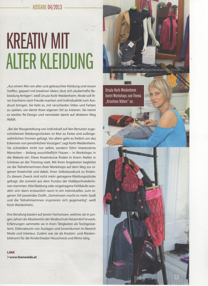 Artikel in der GVA Zeitung