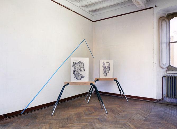Installation view, M.F. Dispositivo II, 2018, Villa Nigra, Miasino (No)