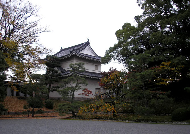 Nijō-jō : Tourelle d'angle du mur d'enceinte