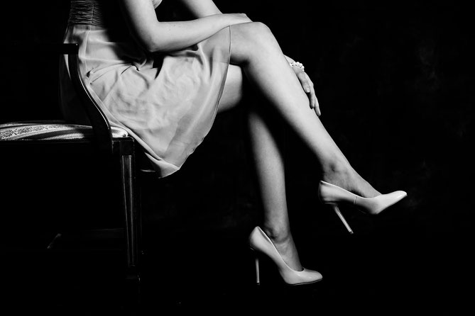 legs of a woman