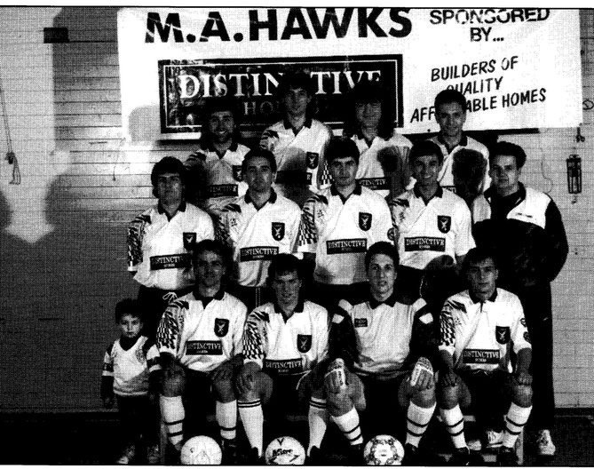 1992 Premiers Second Division MA HAWKS FC