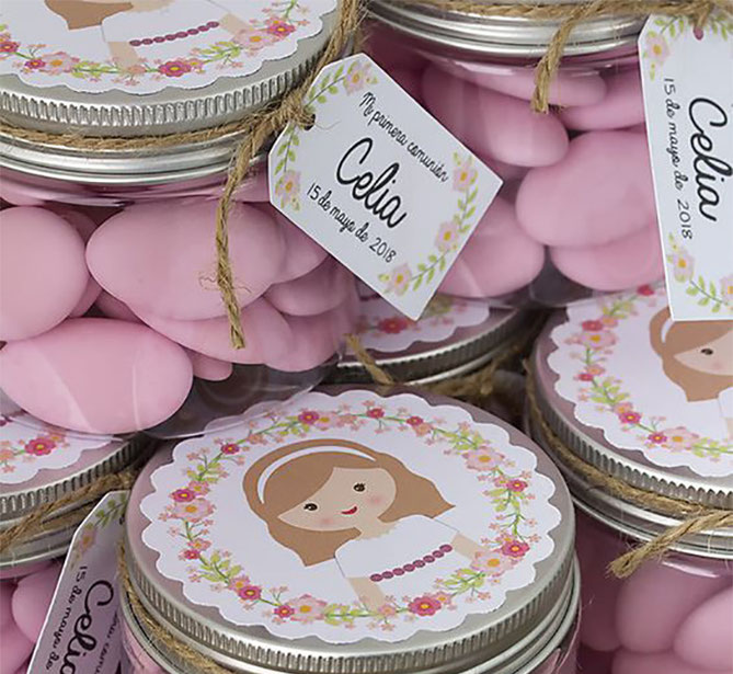 dulces primera comunion de niña