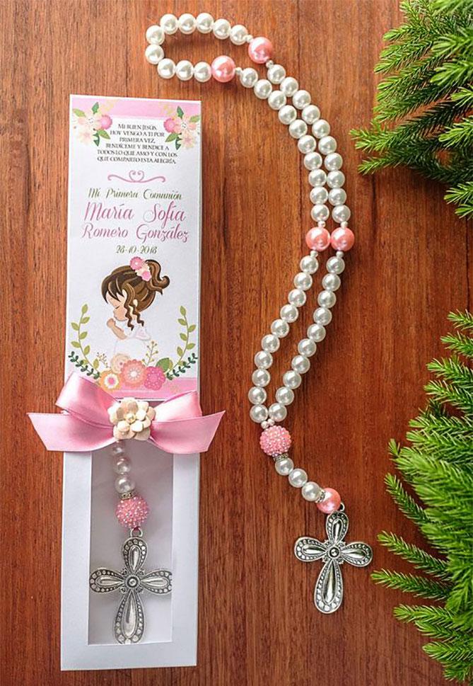 rosario primera comunion de niña