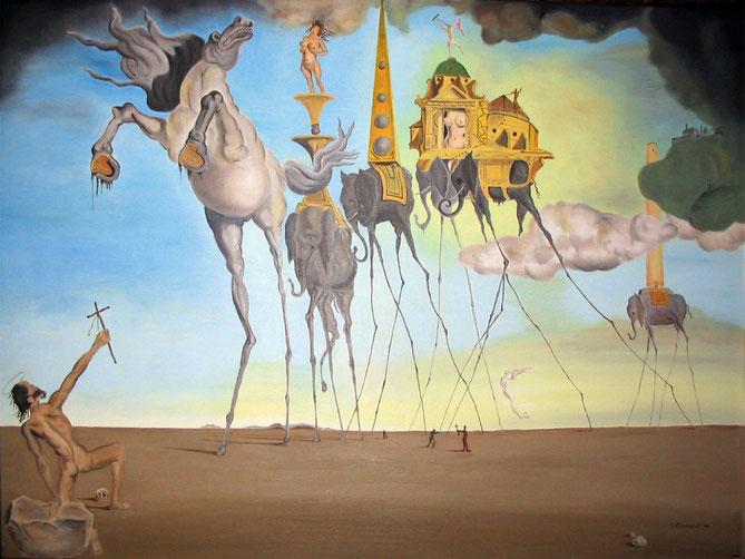 """Salvador Dalì, """"La tentazione di Sant'Antonio"""" (1946)"""
