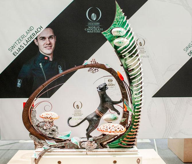 Der Schweizer Elias Läderach konnte sich gegen seine Mitstreiter durchsetzen und holt sich den Titel 'World Chocolate Master 2018'.