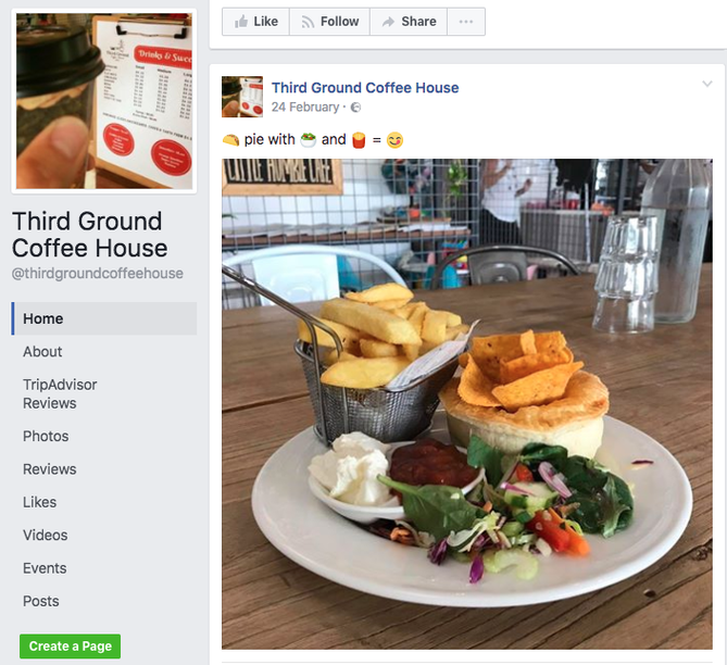Third Ground Coffee House Facebook page