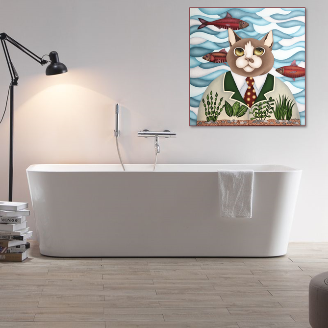 Tableau salle de bains - artiste peintre nantes