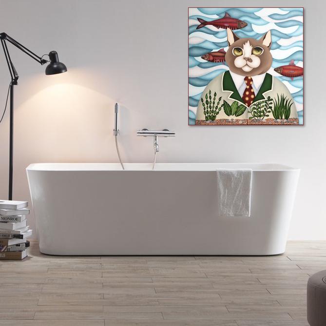 Tableau pour salle de bains - artiste peintre nantes