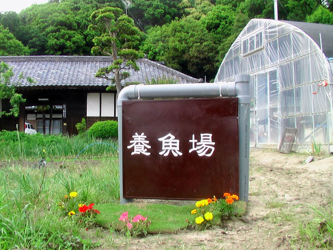 国松養魚場全景(記念撮影スポット)