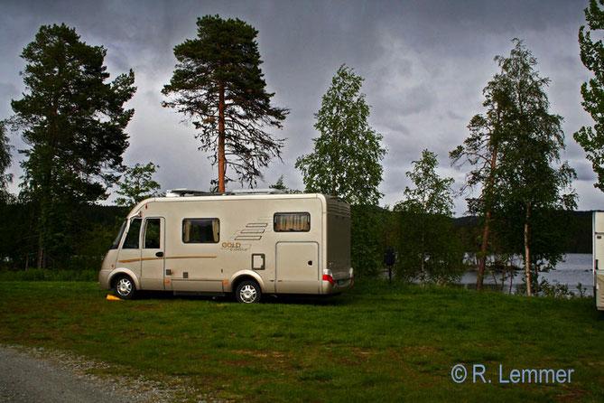 Avasund Camping am Rackosjön See