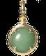A treasure ball that prays at the sacred place Utaki in Okinawa  Aventurine Power stone Pendant Necklace