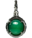 A treasure ball that prays at the sacred place Utaki in Okinawa  Green Onyx Power stone Pendant Necklace