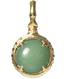 A treasure ball that prays at the sacred place Utaki in Okinawa  Aventurine Power stone Pendant Necklace