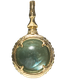 A treasure ball that prays at the sacred place Utaki in Okinawa  Blue Fluorite Power stone Pendant Necklace