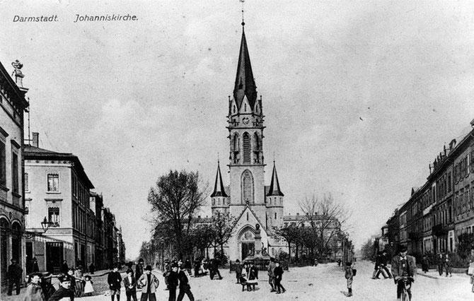 Otto und Lilli Wolfskehl halfen maßgeblich bei der Finanzierung der Evang. Johanneskirche mit, im Herzen des damaligen Blumenthalviertels / Foto: Stadtarchiv