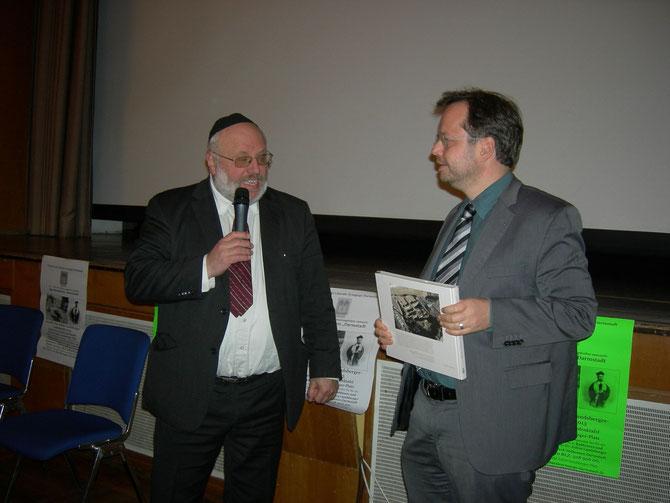 Rabbi Walter Rothschild, Martin Frenzel - beim FLS-Erich Bienheim-Abend Nov.2012 Foto: FLS