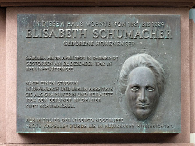 Frankfurter Gedenktafel für Elisabeth Schumacher
