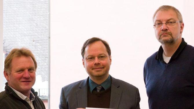 FLS-Vorstandsmitglieder Martin Remmele, Martin Frenzel, Dieter Wenzel / Foto: FLS