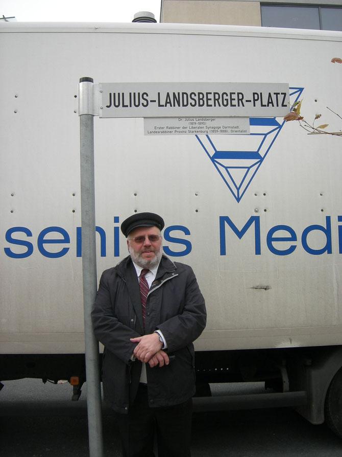 Rabbi Walter Rothschild auf dem Julius-Landsberger-Platz, Nov.2012 / Foto: FLS