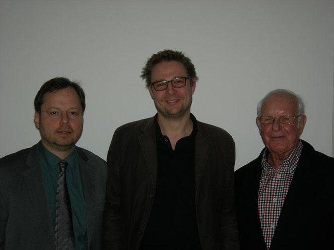 Filmemacher Florian Steinwandter-Dierks (Mitte), Klaus Lingeldein (re), Martin Frenzel (li) / Foto: FLS