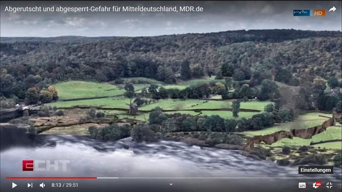 Sendung MDR vom 11.5.2019 `Abgerutscht und abgesperrt-Gefahr für Mitteldeutschland`