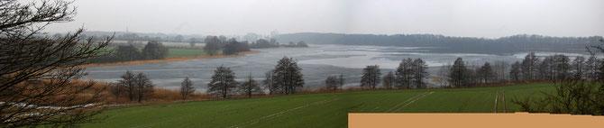 Blick vom Kalkhausberg am 18.2.13,  Beginn einer Warmphase nach längerer Frostperiode