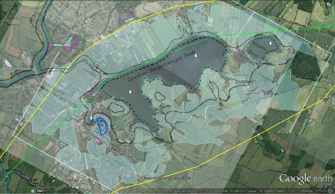 Der Goße Segeberger See postglazial, Hagel & Ross (1999) nach Stein (1953)
