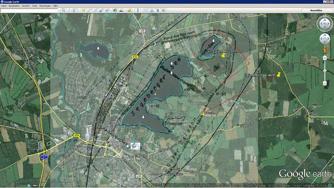 Epizentrum-Verortungen nach Klußmann (DKRZ) und Klinge (SZGRF)