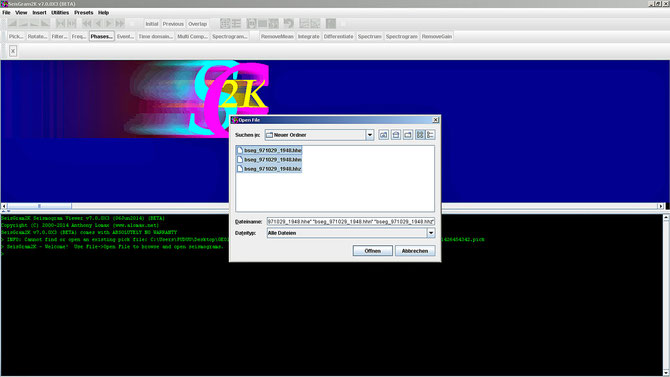 open File (für Auswahl von mehr als 1 Komponenten Strg bei Auswahl gedrückt halten): `Öffnen`