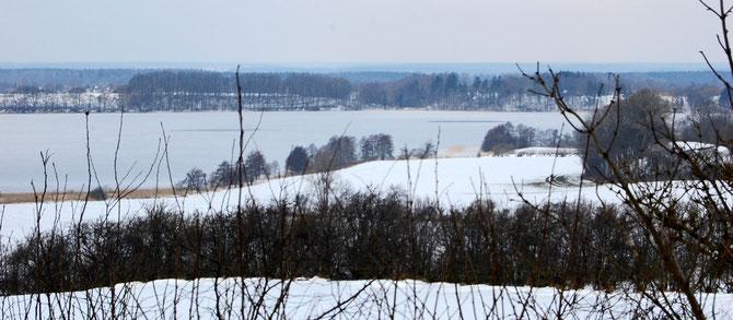 Großer Segeberger See am 12.3.13 aufgenommen vom Moosberg /Blickrichtung WNW
