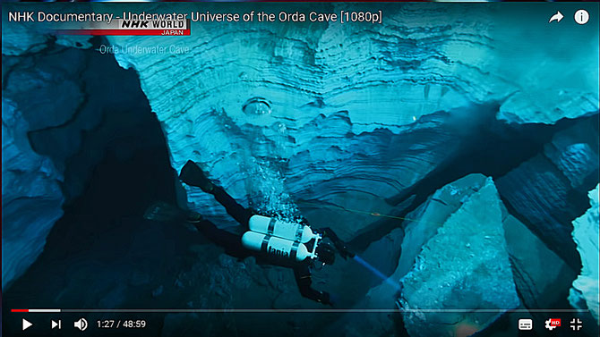 NHK Documentary - Underwater Universe of the Orda Cave