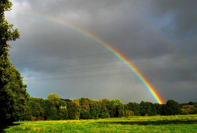 Regenbogen über dem Travetal bei Högersdorf