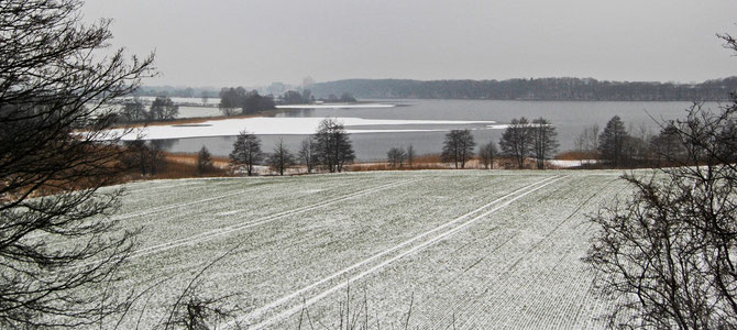 Großer Segeberger See 27.1.13 aufgenommen vom Kalkhausberg /Blickrichtung WSW