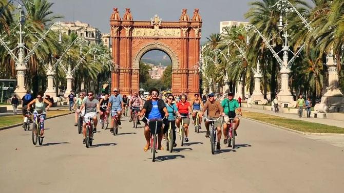 Экскурсии по Барселоне на велосипеде