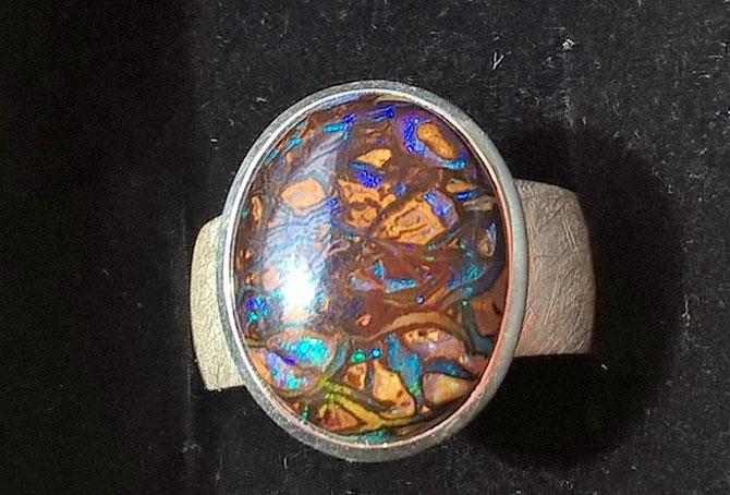 Opalschmuck Ring Boulderopal