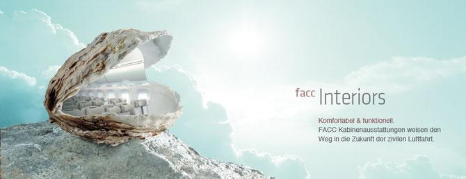 FACC: Der Geschäftsbereich Interior fertigt u.a. komplette Kabinenausstattungen.