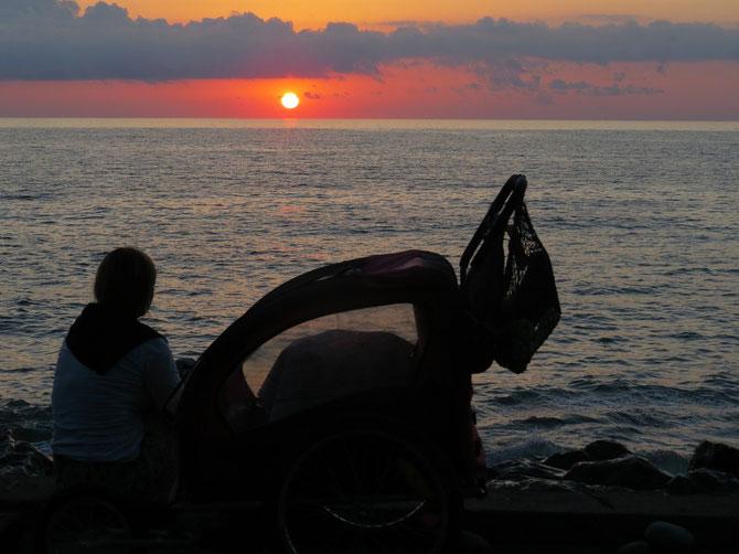 Toyota genießt auch den Abschieds-Sonnen-Untergang