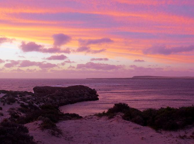 Sonnenuntergang-Gemälde